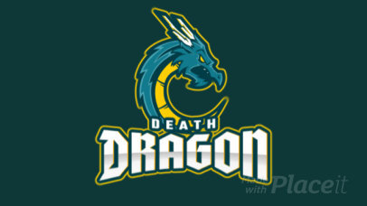MLBB-Inspired Animated Fantasy Logo Template with a Deadly Dragon Graphic 2455hh-2861