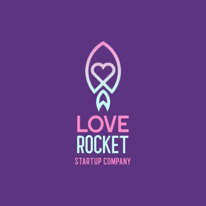 Dating App Logo Generator Featuring a Rocket Icon 556a-el1