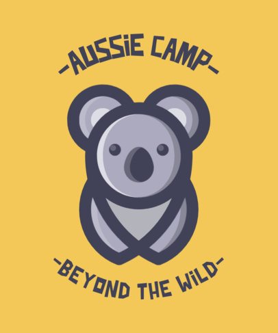 Summer Camp T-Shirt Design Maker with a Koala Illustration 554a-el1