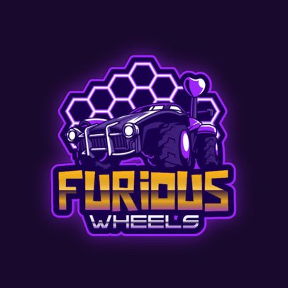 Logo Maker Inspired in Rocket League with a Car Clipart 2851a