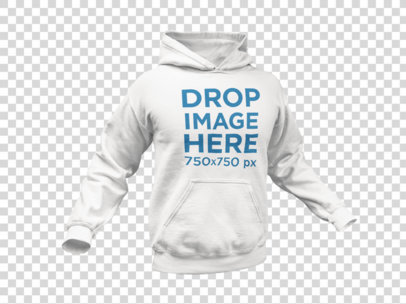 Men's Pullover Hoodie Invisible Model Mockup 10659