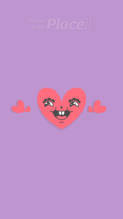 Valentine's Day Instagram Story Video Template with a Cute Heart Cartoon 2039
