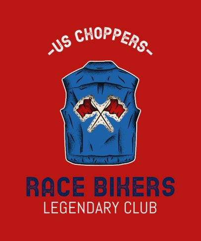 T-Shirt Maker for a Social Club for Bikers 2132e