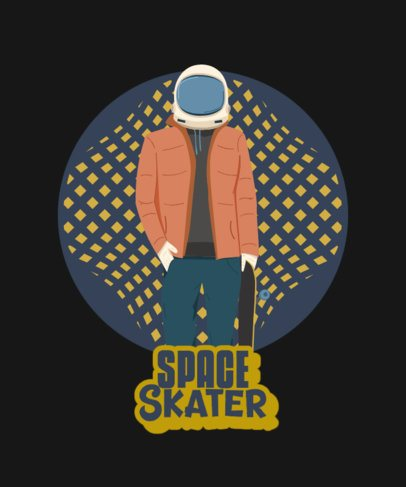 Urban T-Shirt Design Maker with an Astronaut Character Graphic 2136g