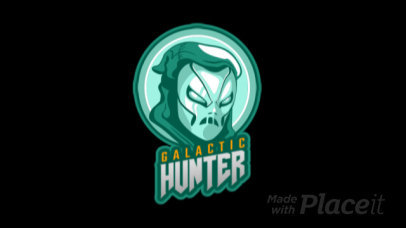 Animated Gaming Logo Template Featuring a Mysterious Masked Character 2637o-2857