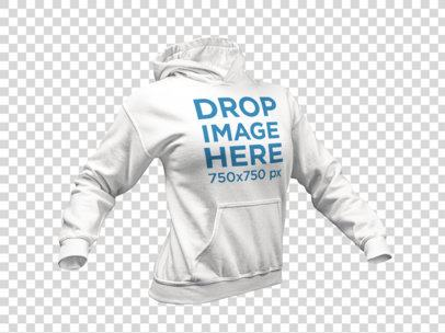 Invisible Model Women's Hoodie Mockup a10656