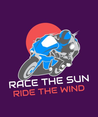 T-Shirt Design Maker with a Racing Biker Illustration 2133g