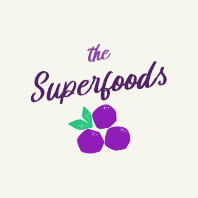 Logo Generator for a Superfood Restaurant 2841h