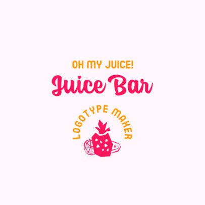 Cool Logo Maker for a Natural Juice Place 2842b