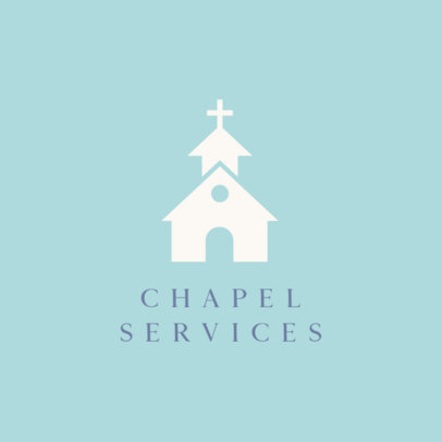Logo Template with a Chapel Graphic 598c-el1