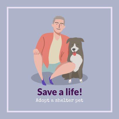 Pet Shelter Facebook Post Maker Promoting Responsible Dog Adoptions 2026k 2083