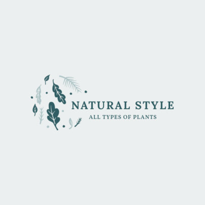 Logo Generator for a Natural Plants Store 2839f