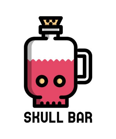 T-Shirt Design Maker for a Bar Business with Drinks Icons 596-el1