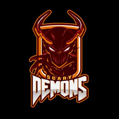 Logo Template for Gamers Featuring a Scary Demon Clipart 1877l-2883