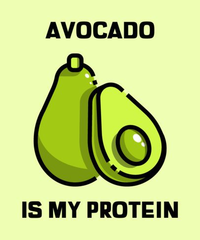 T-Shirt Design Creator with an Avocado Icon 606a-el1