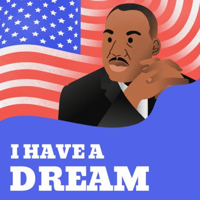 I Have a Dream Instagram Post Template 2139c