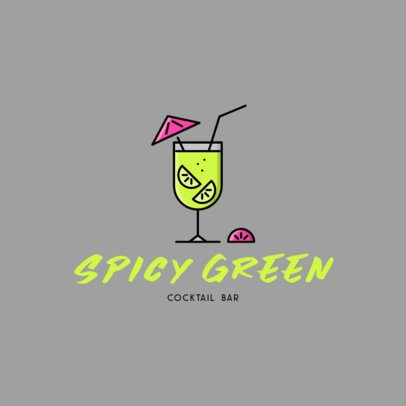 Online Logo Maker for a Cocktail Bar Featuring a Drink Clipart 613a-el1