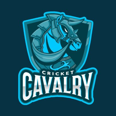 Cricket Logo Template with a Horse Graphic 1652f-2881