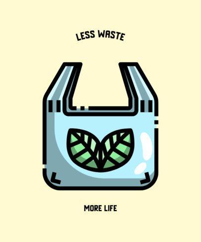 Eco-Themed T-Shirt Design Generator Featuring a Renewable Plastic Bag Clipart 604a-el1