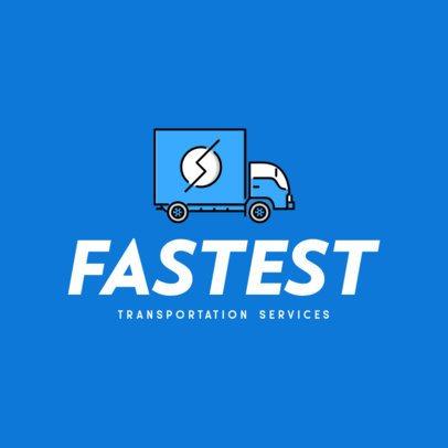 Transportation Services Logo Maker with a Truck Clipart 616b-el1