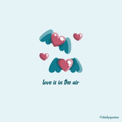 Instagram Post Creator Featuring a Romantic Quote for Valentine's Day 600c-el1