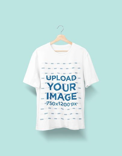 Mockup of a T-Shirt Hanging Against a Solid Background 2362-el1