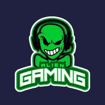 Gaming Logo Creator Featuring an Alien with Headphones 523x-2882