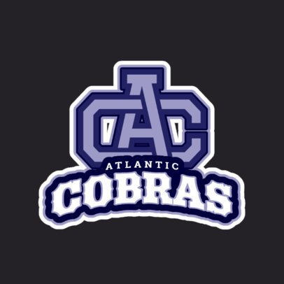 Sports Logo Maker for a Rugby Team Featuring College Letters 1616h-2880