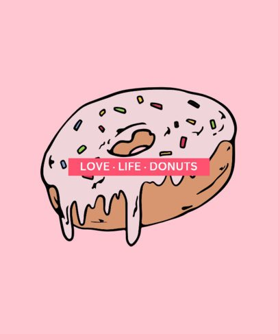 T-Shirt Design Generator Featuring a Donut Illustration 218a-el1