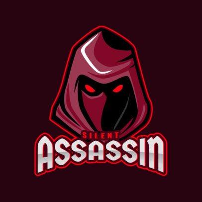 Gaming Logo Generator Featuring a Hooded Assassin Illustration 1877j-2889