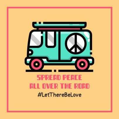 Peace and Love Facebook Post Maker with a Van Clipart 593a-el1