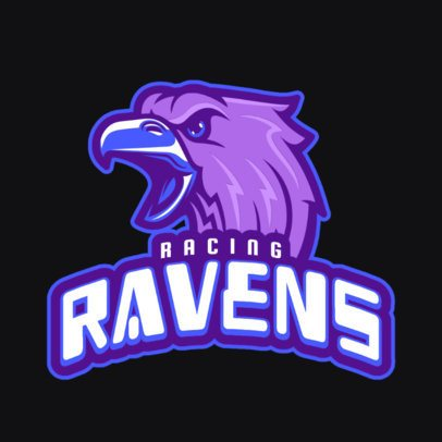 Gaming Logo Maker Featuring a Screeching Raven Graphic 1745f-2880