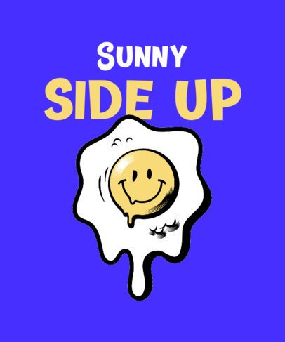 T-Shirt Design Maker Featuring a Smiling Egg Graphic 2138f