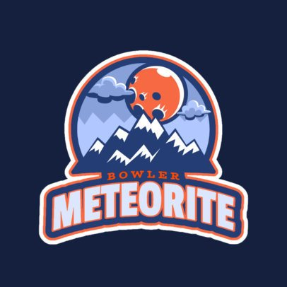 Sports Logo Maker Featuring a Meteorite Illustration 523dd-2883