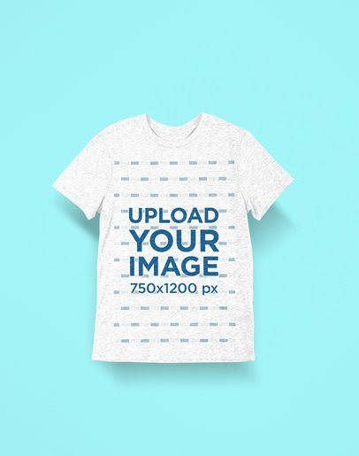 Minimal Heather T-Shirt Mockup with a Colored Background 2365-el1