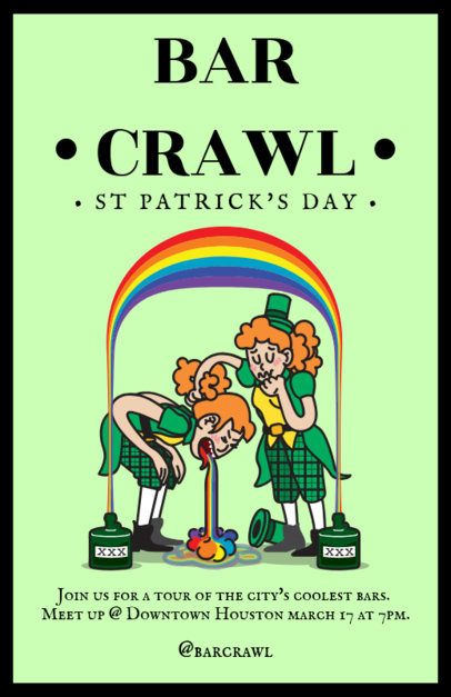 Online Flyer Maker for a Pub Crawl on Saint Patrick's Day 2184c