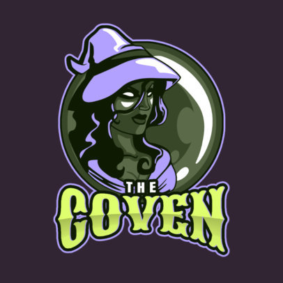 Logo Maker for a Gaming Team Featuring a Witch Graphic 1741h-2892
