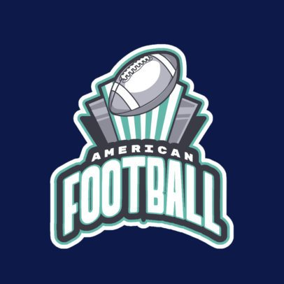 Sports Logo Maker Featuring an American Football Ball Clipart 245ll-2892