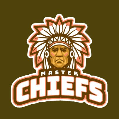 Gaming Logo Maker Featuring a Native American Chief Graphic 29s-2893