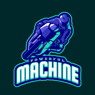 Gaming Logo Maker Featuring a Racing Bike Graphic 1745i-2888