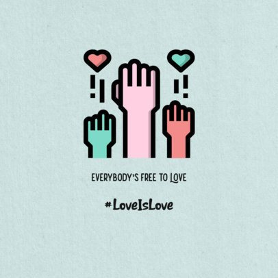 Instagram Post Maker with a Love is Love Quote 594a-el1