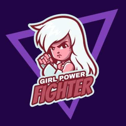 Gaming Logo Maker Featuring a Female Fighter Character 1872f-2891