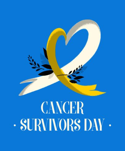 T-Shirt Design Template for Cancer Survivors Day 2164c