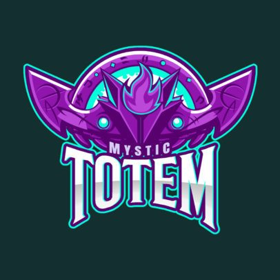 Gaming Logo Maker Featuring an Illustrated Mystic Totem 2499mm-2888