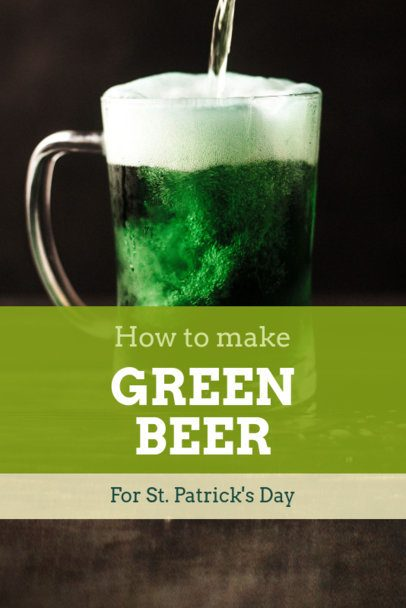 Pinterest Pin Maker for a St. Patrick's Day Recipe 1885j-2182