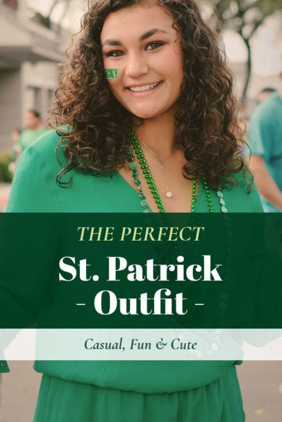 St. Patrick's Day-Themed Pinterest Pin Template for an Outfit Post 1885k-2182