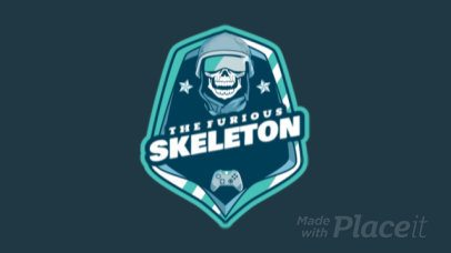 Animated Gaming Logo Maker Featuring a Laughing Skeleton Graphic 1743s-2880