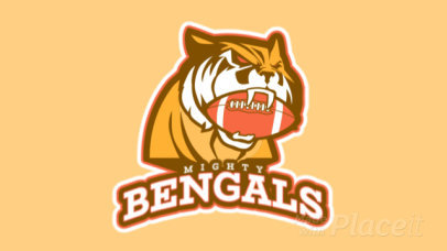 Animated Sports Logo Creator Featuring a Tiger with a Football Ball 21z-2893