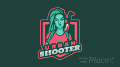 Animated Gaming Logo Maker with a Free Fire-Inspired Female Character 2637t-2890