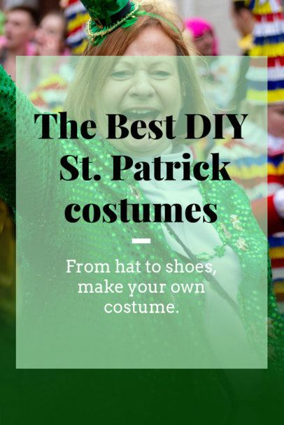 St. Patrick's Day Pinterest Pin Creator for a DIY Costume Post 2031h-2182